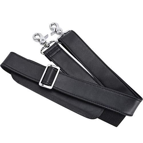 XINGYUE Universal Adjustable Padded Genuine Leather Wide Shoulder Bag Strap Replacement for Laptop Case Luggage Crossbody Messenger Handbag