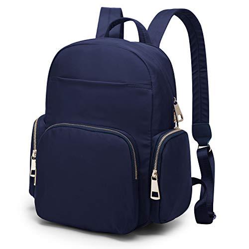 WindTook Mini Rucksack Damen Daypack Schulrucksack Nylon Mode Klein für Schule Büro Alltag, 30 x 15 x 33 cm, Blau
