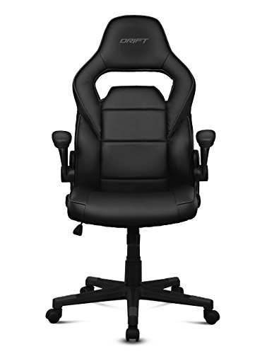 Drift DR75 - Silla de gaming de piel sintética , 66 x 53 x 115-123 cm, Negro