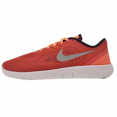 Nike 833993-801 : Free Run GS Ember/Purple /silver Youth (4.5 Big Kid M)