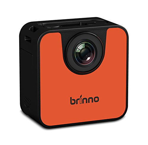 Brinno TLC120 HDR Time Lapse Camera, WiFi + Bluetooth, Risoluzione Video 1280 x 720, Scheda SD 8GB Inclusa, Arancio