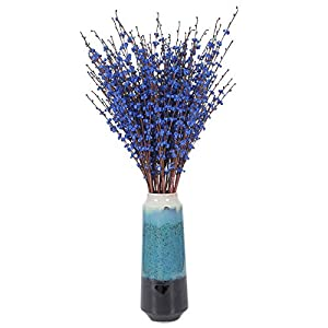 Momkids 10 Pack Artificial Jasmine Flowers of Long Stem Tall Fake Jasmine Flower Faux Winter Flowers Bouquet for Home Office Bedroom Kitchen Wedding Party DIY Decor(Royal Blue, 29.5 Inch )