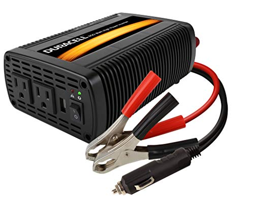 Duracell DRINV800 High Power Inverter 1600 Watt Peak 800W Continuous, 12v DC Input Includes 2 AC Outlets (115V) Plus 2.1 Amp USB (5V)
