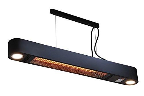 Heizstrahler Elegance mit LED Beleuchtung - 1500 Watt - Schwarz - Deckemontage