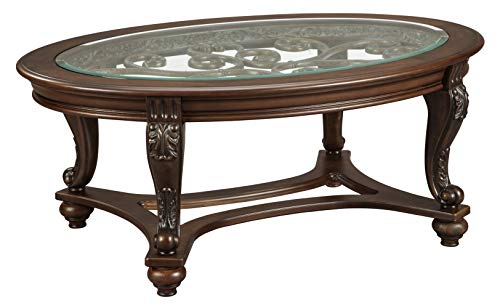 Hot Sale Traditional Dark Brown Norcastle Cocktail Table