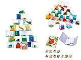 DISOK Lote 24 Juegos De Habilidad + 3 Bloc Notas Libreta Floral