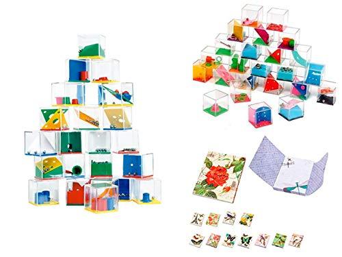 DISOK Lote de 24 Juegos de Habilidad - Juegos de Habilidad para niños, Adultos