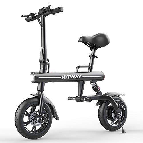 HITWAY Bicicletta elettrica Bicicletta elettrica Pieghevole URBANBIKER in Alluminio aeronautico Pieghevole, 7,5 Ah, Motore da 250 W, Portata Fino a 45 km BK1-HW