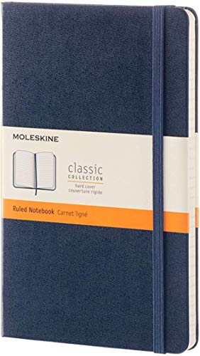 Moleskine Notizbuch, Groß, A5, Liniert, Hard Cover, saphir
