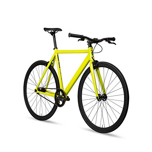 6KU Aluminum Fixed Gear Single-Speed Fixie Urban Track Bike, TBY-55cm