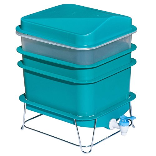 Review 4-Tray Worm Factory Farm Compost Small Compact Bin Set