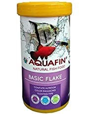 Aquafin Basic Flakes Food for All Tropical Fish and Goldfish, 250 ml