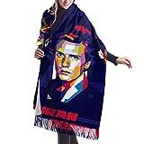 Bufanda de mantón Mujer Chales para, Bufanda de cachemir unisex Cozy Elegant Accessories Manta para viajes a casa 77 'x27'