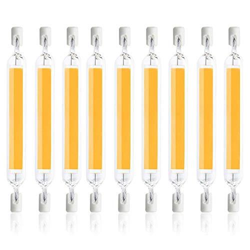 ZHTT Bombilla LED R7S 78mm, LED COB 10W Reemplazo de lápiz halógeno R7S J78 100W, 1000LM, 360 Grados, Lineare R7S LED 78mm Slim para Mini Proyecto/Bombilla de lámpara de Pared