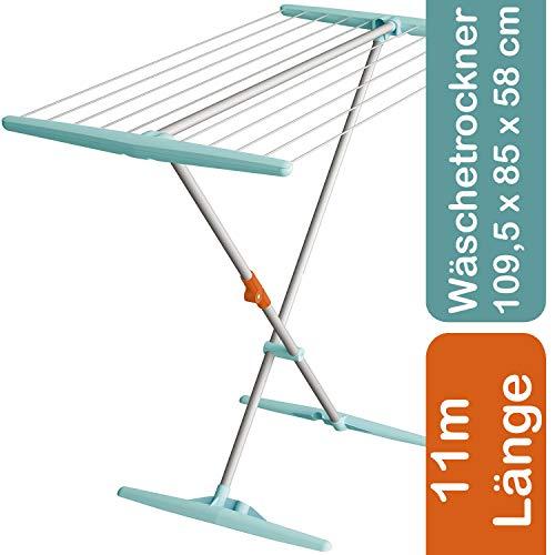decorwelt Artweger Wäscheständer Klappbar 118 cm Mint Wäschetrockner Standtrockner Ohne Flügel