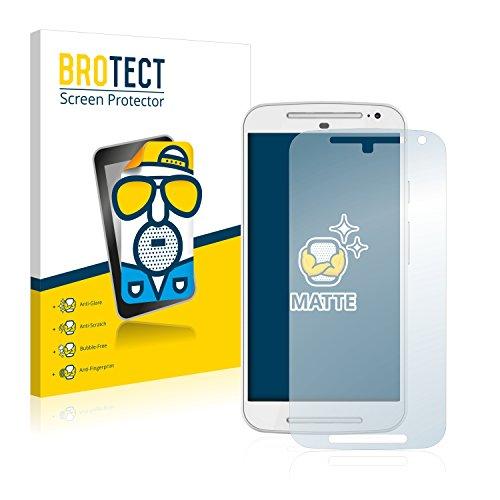 BROTECT 2X Entspiegelungs-Schutzfolie kompatibel mit Motorola Moto G2 / G 2. Generation Displayschutz-Folie Matt, Anti-Reflex, Anti-Fingerprint