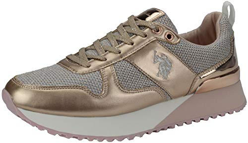 U.S. POLO ASSN. 4103W8/TY1 Damen Sneakers Rosa, EU 38