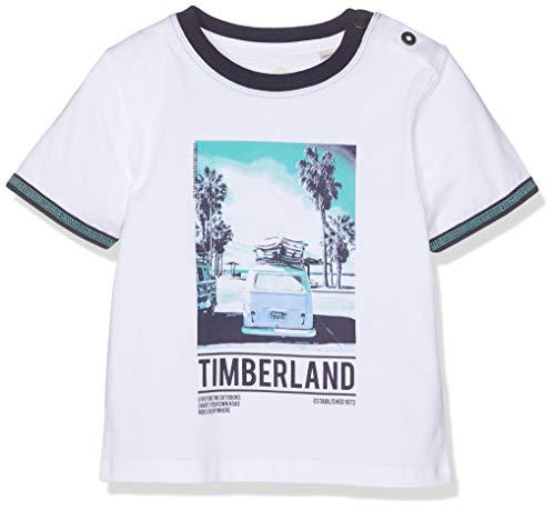 Timberland Tee-Shirt Manches Courtes T- Blanc 10b, 6-9 Mois (Taille Fabricant:06M) Bébé garçon