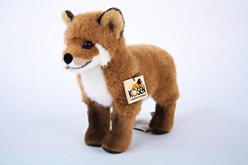 Teddys Rothenburg Kösen, Fuchs, 29 cm, stehend, rotbraun, Stofffuchs, Plüschfuchs