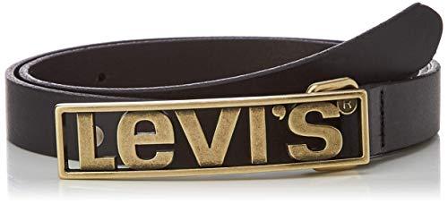Levi's Levis Plaque Ceinture, Noir (Regular Black 59), 90 Femme