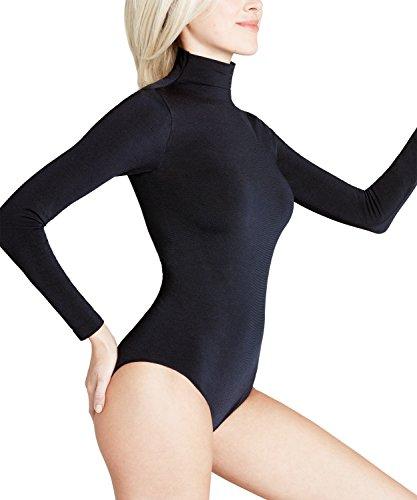FALKE Damen Body Rich Cotton - Baumwollmischung, 1 Stück, Schwarz (Black 3009), Größe: M