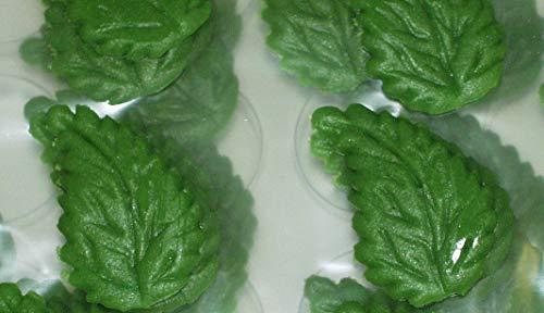 SweetKonzept, 31851, Marzipanblätter grün, 60 Stück groß, 25x45mm, Tortendekoration essbar