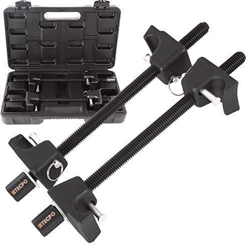 TECPO 300135 Federspanner Satz Universal Tuning Federbein Spannen Tieferlegung Set für Vorderachse und Hinterachse
