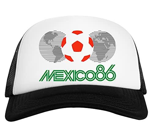 Mexico 86 Logo Gorra De Béisbol Unisex Blanca Negra White Black Baseball Cap