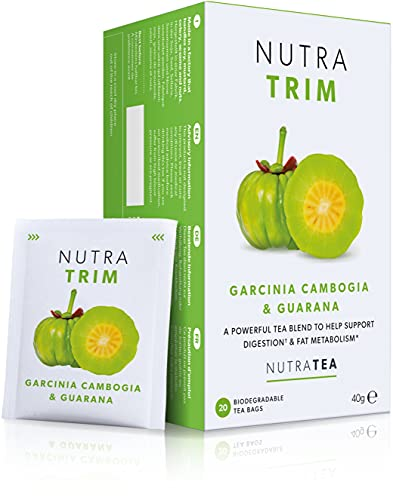 NUTRATRIM - Slim Tea | Skinny Tea | Slimming Tea – Aids in Weight Loss and Digestion – Includes Garcinia Cambogia, Guarana & Green Tea - 20 Enveloped Tea Bags - by Nutra Tea - Herbal Tea