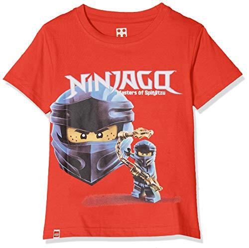 LEGO Jungen cm T-Shirt, Rot (Red 344), (Herstellergröße: 116)