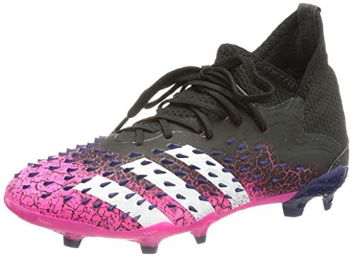 adidas Predator Freak .1 FG J, Scarpe da Calcio, Core Black/Ftwr White/Shock Pink, 38 EU