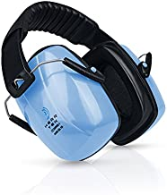 HEARTEK Earmuffs Hearing Protection with Travel Bag - Noise Canceling Ear Hearing Protection Defenders for Kids, Adults, Women, Children - Adjustable Protector Reduction Ear Muffs for Shooting - Blue