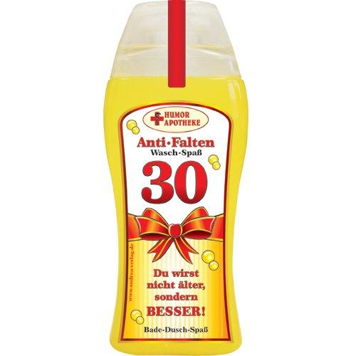 Andrea Verlag Spaß Duschbäder Duschgel Shampoo zum Geburtstag Geschenk für Männer Frauen (30. Geburtstag 32995)