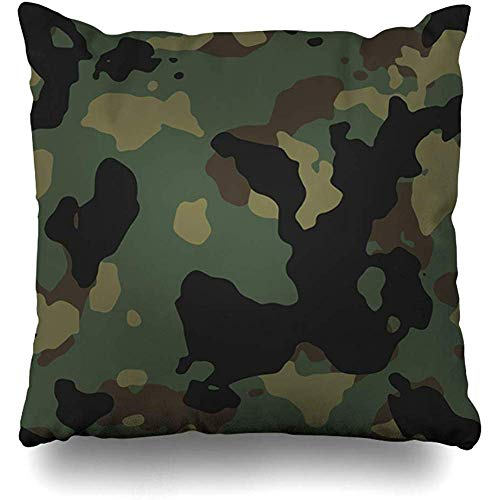 Babydo Pillowcase Military Brown Camouflage Us Army Woodland Camo Pattern Usa Technology Green Camoflauge Camoflage Chair Cases Soft Christmas Zipped Dormitory Throw Pillow Cover Persona