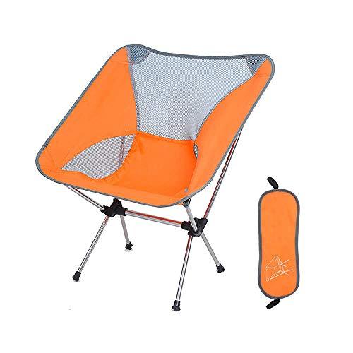 BSDBDF Chaises de pêche compactes ultralégères et Portables avec Sac de Transport pour extérieur, pêche, Festival, Plage Size Orange