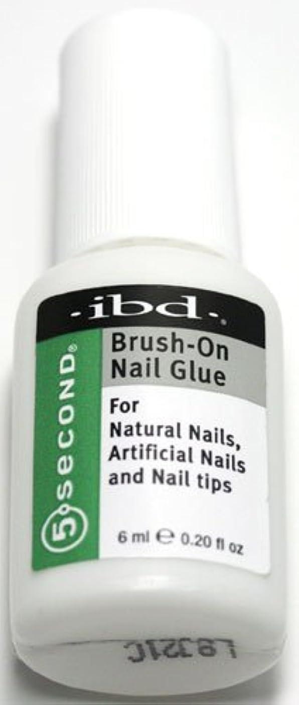 アカウントペパーミント子犬ibd ブラッシュオンネイルグルー[5SECOND Brush-On Nail Glue] ◆