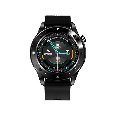 JINPX Smartwatch Reloj Inteligente para Hombre 1.3' Pantalla Táctil Completa con Monitor de Frecuencia Cardíaca,Sueño,Podómetro,8 Modos Deportivos,Pulsera Actividad Inteligente para Android iOS