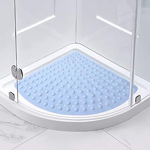 Guoc Alfombra de Ducha,Alfombrilla Antideslizante para bañera,diseño de triángulo,con Agujero de Drenaje para Ducha o bañera,PVC