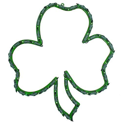 Northlight 17' Lighted St.Patrick's Day Irish Shamrock Window Silhouette Decoration