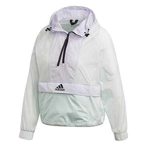 adidas Damen W Cropped W.RDY Sport Jacket, Dash Green/Purple Tint, M