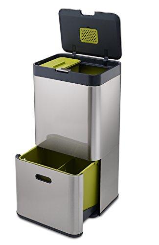 Joseph Joseph 30022 Intelligent Waste Totem Kitchen Trash Can and Recycle Bin Unit
