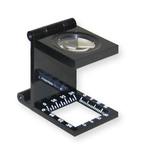 Carson LinenTest Lupa Cuentahílos Plegable con Lente de 20mm y Aumento de 6.5x