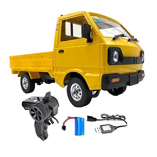 FITYLE Juguete RC camión 1:10 4WD Escalada 4WD y 2 o 3 batería de Juguete eléctrico, Carga Completa por 2h y Dura hasta 20-30 Minutos, Amarillo - 1 Batería