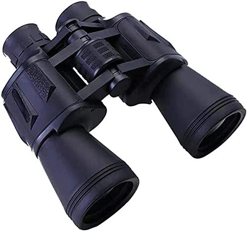 DZCGTP 20 Veces; 50 con Adaptador de teléfono móvil HD a Prueba de Agua y prismáticos antivaho HD BAK4 Prisma Lente Adecuado para Deportes al Aire Libre