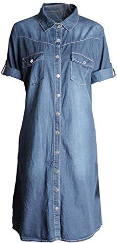HX fashion Damer sommarklänning kvinnor jeansklänning lös ledig klänning blusenträ festklänning långärmad festklänning klänning E aftonklänning S M L XL XXL