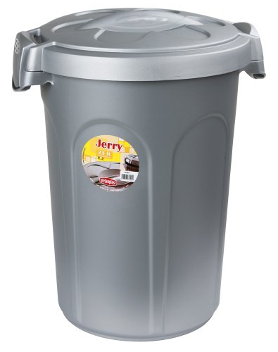 Stefanplast 82268 voederton Jerry 8 kg, 23 l, 37 x 32 x 46 cm, grijs