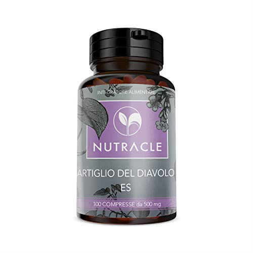 NUTRACLE Artiglio del diavolo 100 compresse da 500 mg - Per il benessere e la salute articolare di sportivi ed anziani