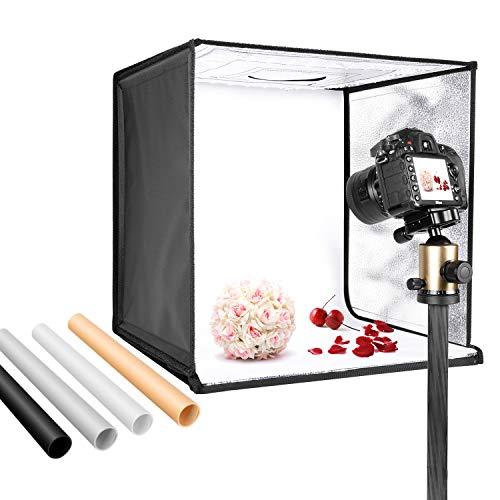 Neewer Caja Luz Foto Estudio 50cm Tienda Luz Disparo Brillo Ajustable Plegable Portátil Mesa Profesional Kit de Ilumina