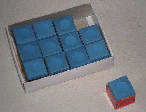 2x 12 Stück Billard-Kreide in blau