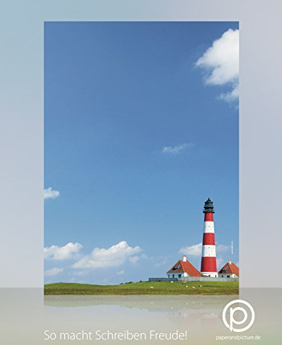 Urlaub und Meer Motivpapier Leuchtturm, 100 Blatt Briefpapier DIN A4, 90g/qm